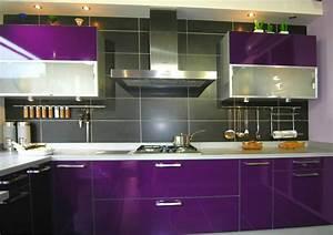 Cuisine Couleur Aubergine : credence cuisine aubergine cr dences cuisine ~ Premium-room.com Idées de Décoration