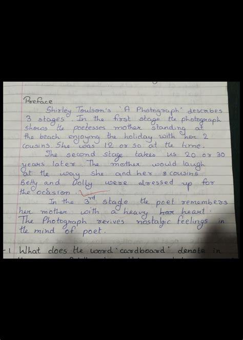photograph poem summary hornbill english  photograph