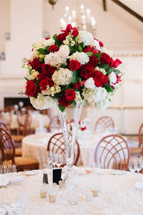 wedding centerpieces red and white red white and green garden wedding centerpiece amanda