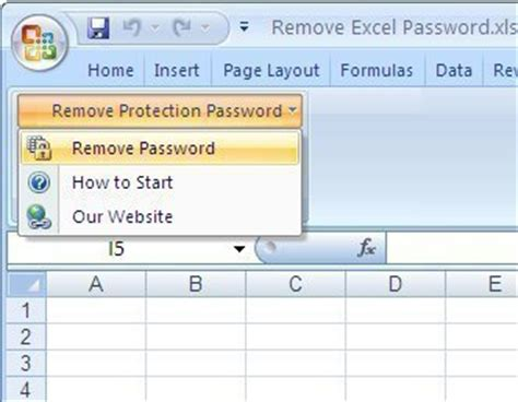 how to unprotect an excel sheet
