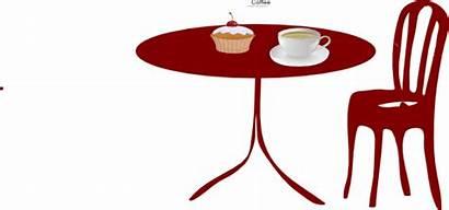 Table Chair Coffee Clip Clipart Cupcake Chairs