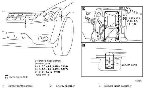 nissan murano front bumper removal procedure