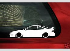 2x LOW Honda Acura integra DC2 Type R silhouette outline