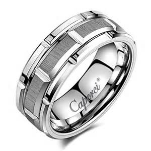 tungsten carbide mens wedding rings tungsten rings for caperci 39 s 8mm brick pattern carbide tungsten wedding band on