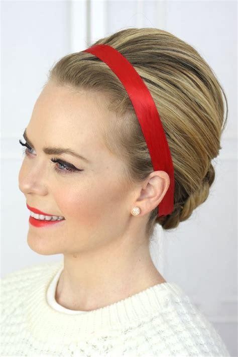 stylish ways  wear hair ribbons