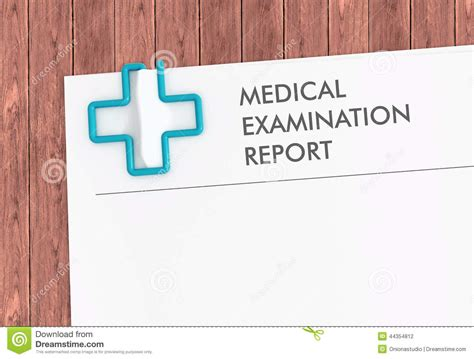 Woods L Examination Ijdvl by Report Template With Cross Paper Clip Stock