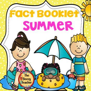 summer fact booklet  images summer books booklet