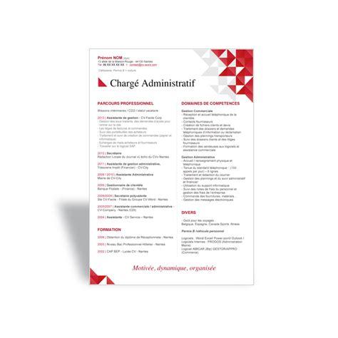 telecharger modele cv word original charge administratif