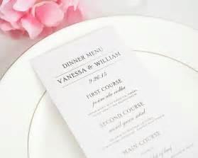 classic wedding invitations simple elegance wedding menus wedding menus by shine