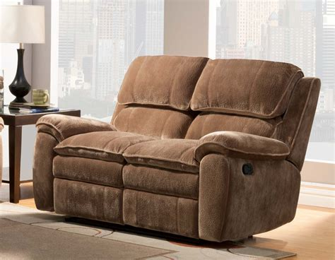 double seat reclining sofa homelegance reilly love seat double recliner brown