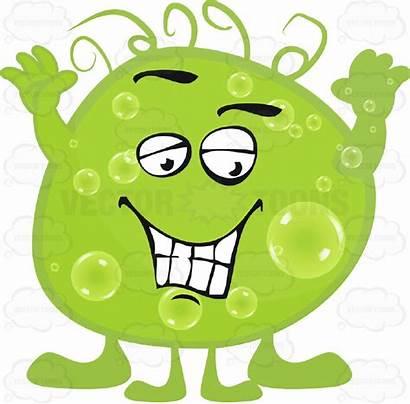 Germ Face Clipart Smiling Cartoon Blob Hands