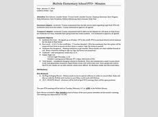 Meeting Minutes January 2017 Kaneland McDole PTO