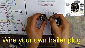 How To Wire A Trailer Plug 7 Pin Diagrams Shown Wiring Diagram