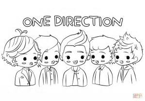 Chibi One Direction Coloring Page