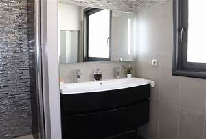 renovation de salle de salle de bain avec une douche a l With salle de bain a l italienne photo