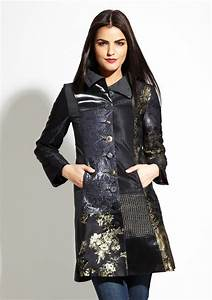 desigual dark night coat fashion pinterest coats With robe style desigual