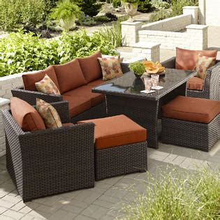 grand resort patio furniture grand resort bedford 6 seating set with casual