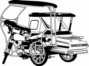 Philippine Tricycle Clipart Black And White - ClipartXtras