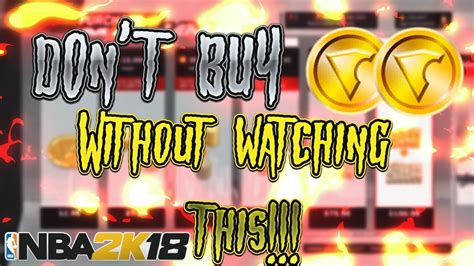 Don't Buy Vc Without Watching This Video!  Nba 2k18 How