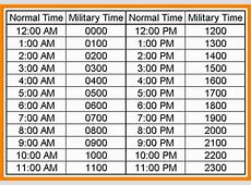 Military time conversion chart compatible screenshoot