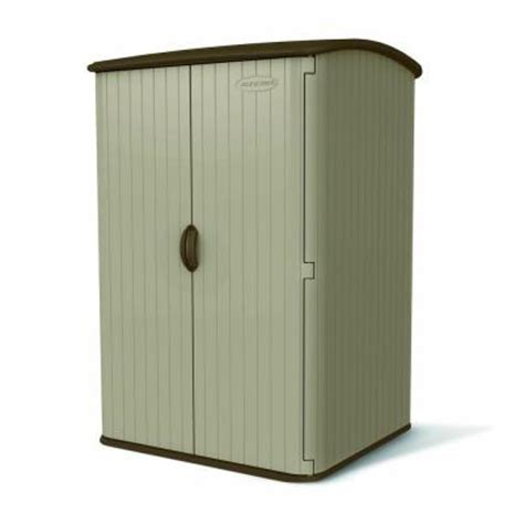 suncast storage sheds home depot suncast large vertical 4 ft x 4 ft 8 in resin