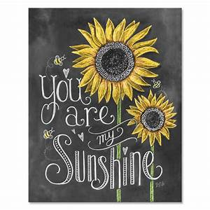 Lily & Val – You Are My Sunshine Print - Childs Room Decor