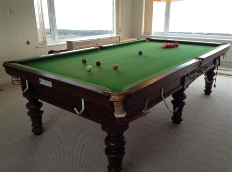 how big is a bar pool table 9ft snooker table for sale located on anglesey north wales