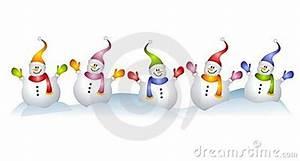 Group Of Snowmen Snowman Clip Art Stock Illustration ...