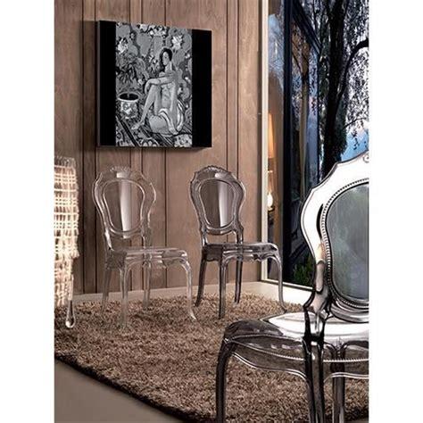 chaise style baroque pas cher irina chaise baroque en polycarbonate transparent fumé