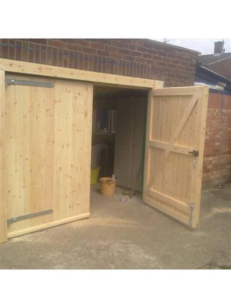 build a garage door timber wooden garage door gates barn doors side hinged