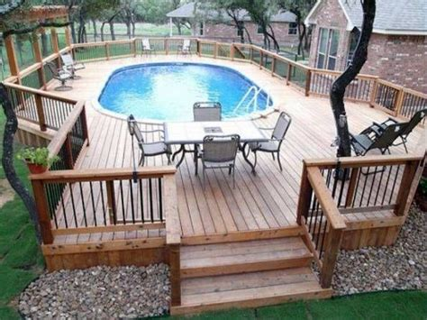 above ground oval pool deck pictures above ground pool deck plans oval deck ideas