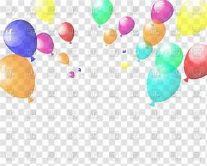Checkered Background With Colorful Balloons Vector