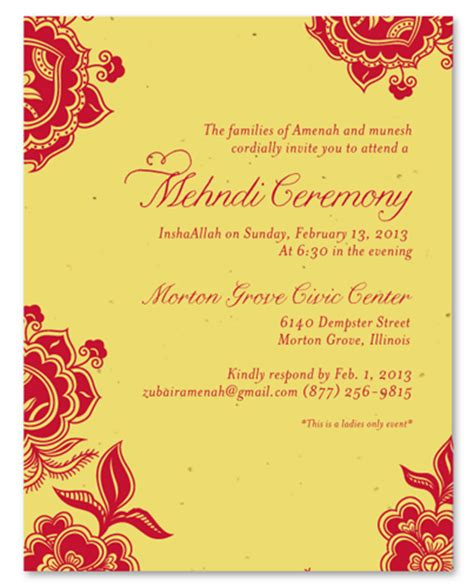 unique save the date cards mehndi ceremony invitations on plantable paper holi by