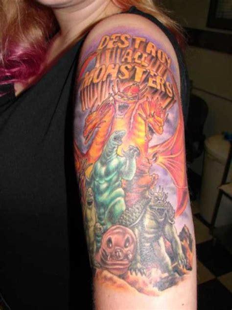 good godzilla tattoos   klykercom