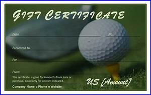 Golf Certificate Template Free Golf Gift Certificate Template MS Word Templates MS Word Templates