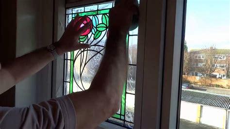 applying peels  london stained glass window film