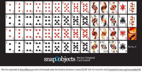 vector playing cards  vector