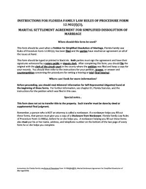 fillable marital settlement agreement  simplified