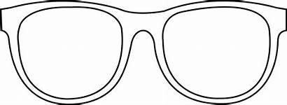 Glasses Sunglasses Outline Clip Printable Clipart Template