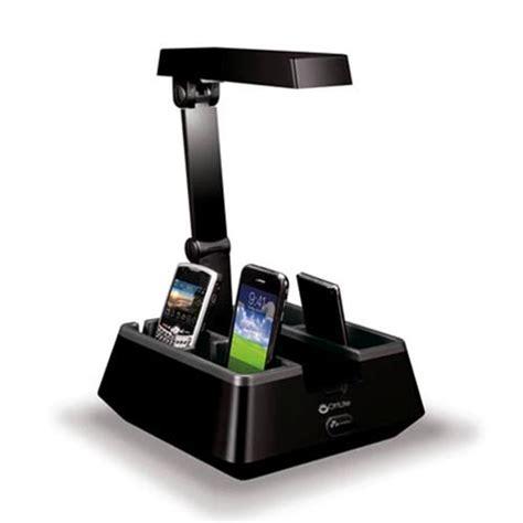 desk l with charging station ottlite charging valet desk l gadgetsin