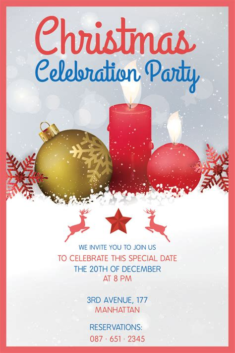 christmas party flyers graphicloads