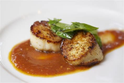seared scallops thyme in our kitchen seared scallops with tomato lemongrass sauce