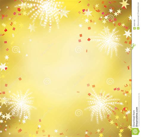 china white wall firework celebration golden background stock illustration