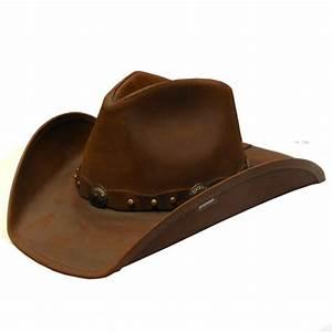 Stetson Roxbury Brown Leather Cowboy Hat