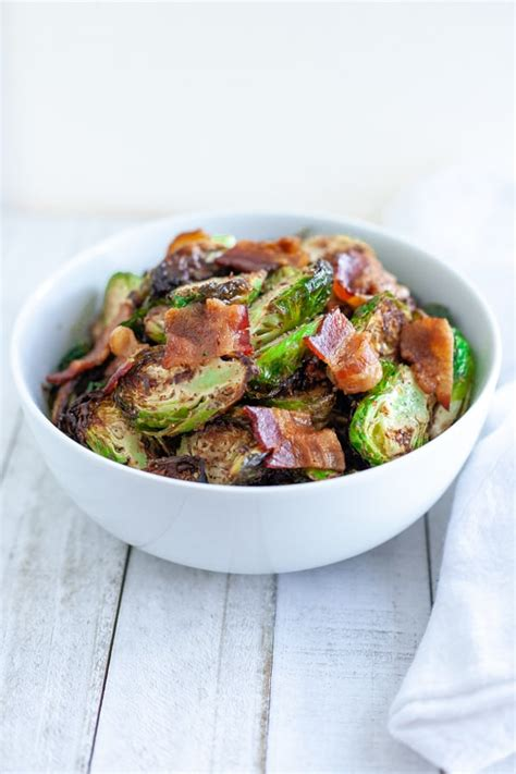 sprouts air fryer brussels frozen bacon cooking raw