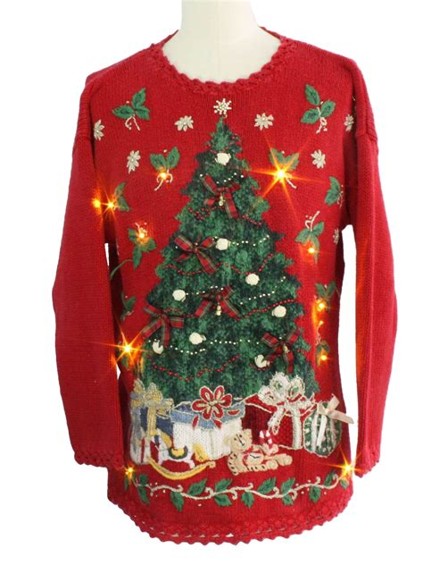 ugly light up christmas sweaters light up ugly christmas sweater heirloom collectibles