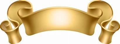 Banner Transparent Gold Golden Background Clip Decorative