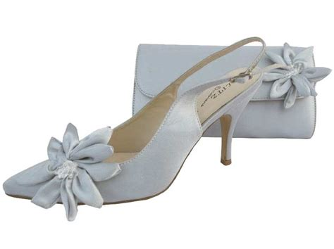 silver evening shoes  matching bag