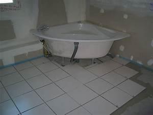 pose carrelage sol salle de bain newsindoco With pose de carrelage mural dans une salle de bain