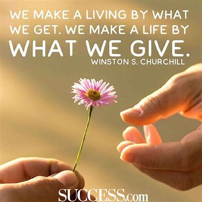 Giving Quotes Give Inspiring Joy Receive Living